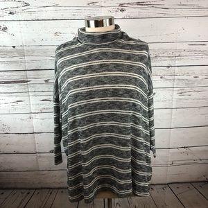 Anthropologie Postmark turtleneck sweater gray